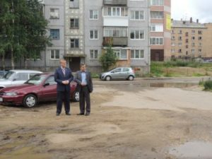 Вопрос ремонта двора дома №41 по улице Морозова на контроле председателя Совета Сыктывкара