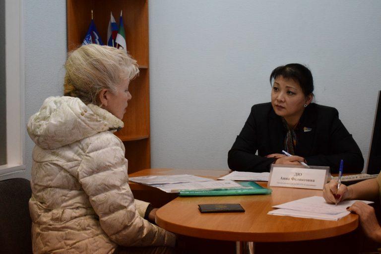 Председатель Совета Сыктывкара провела личный приём граждан