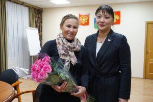 Анна Дю встретилась с Олимпийской чемпионкой Юлией Чепаловой
