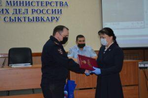 Анна Дю отметила сотрудников органов внутренних дел и Росгвардии за спасение эжвинцев на пожаре
