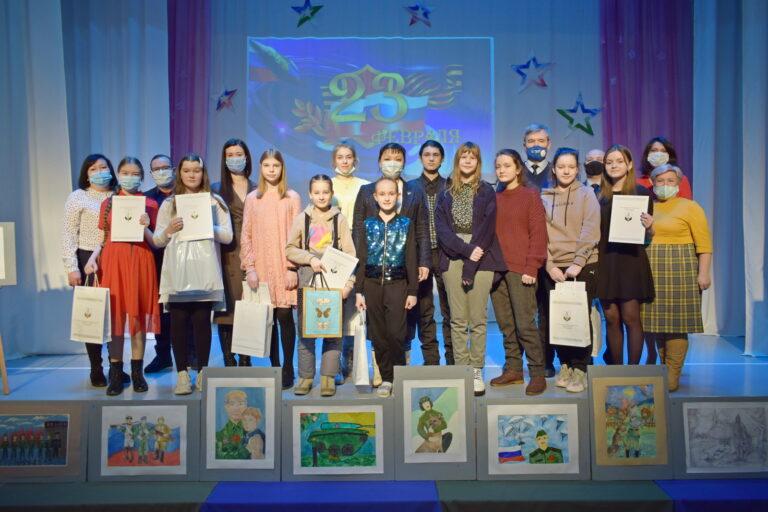 Состоялась церемония награждения победителей городского конкурса рисунка к Дню защитника Отечества