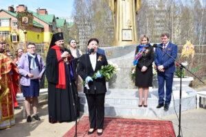 Анна Дю приняла участие в торжественной церемонии закладки камня на Главные соборные ворота