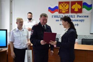 Анна Дю поздравила сотрудников ГИБДД Сыктывкара с юбилеем службы ГАИ-ГИБДД